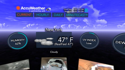 accuweather weer vr app